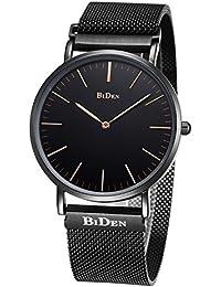 Watch,Mens Women Watch Luxury Fashion Black Super Thin Case Waterproof Analog Quartz Magnetic Apple Watch Band...