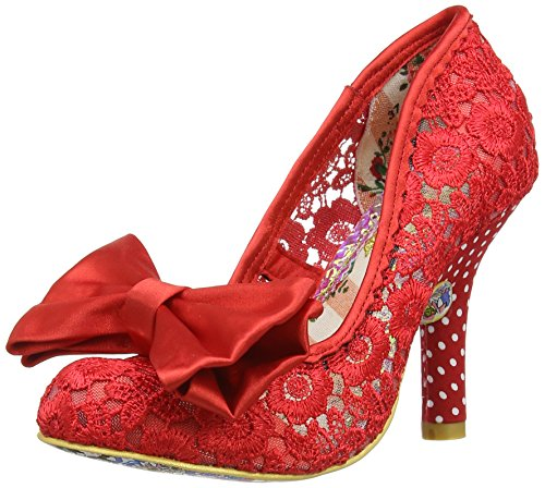 Womens Irregular Choice Mal E Bow Party Slip On Court Sho...