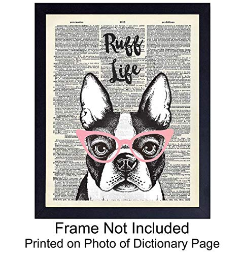 Funny Dog Quote Unframed Dictionary Wall Art Print - Chic Steampunk Home Decor - Great Gift For Dog Owners - Ready to Frame (8X10) Photo