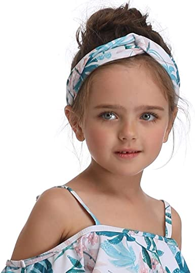 Amazon Com New Hot Cute Wide Headband Flower Print Stretch Hairband Elastic Hair Bands Turban Gir Clothing