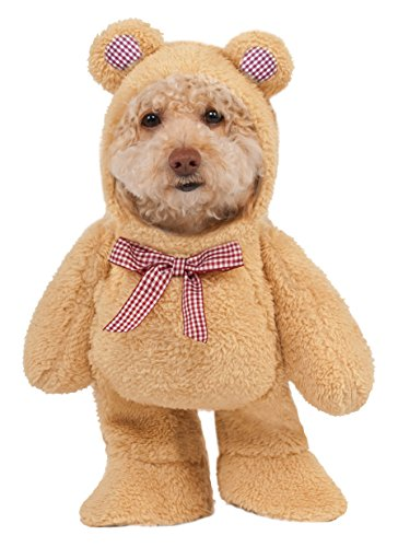 Walking Teddy Bear Pet Suit, Medium for $<!--$15.38-->