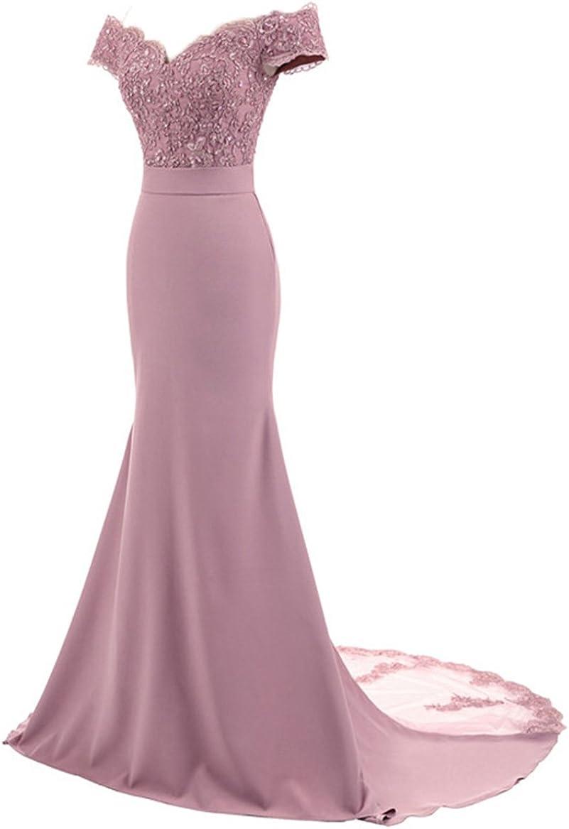 Amazon.com: Fitty Lell Vestido largo de noche para mujer ...