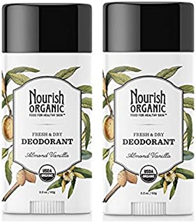 product image for Nourish Organic Stick Deodorant, 100% Natural, Almond Vanilla, 2 Count