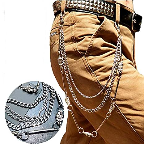 Caditex cadenas de cintura pesada, para hombre, motociclista ...