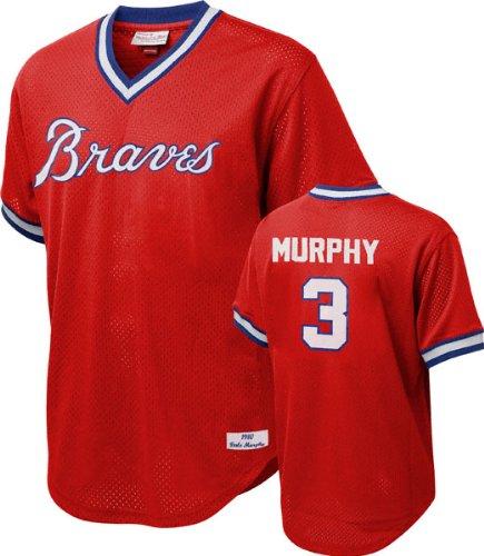 Atlanta Braves Womens Replica Jersey - Mitchell & Ness Dale Murphy Atlanta Braves MLB 1980 Authentic Mesh BP Jersey (Small)