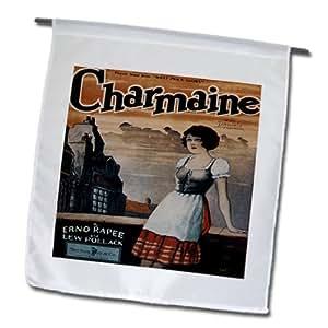 """BLN Vintage canción hoja cubre–Charmaine tema musical de """"¿Qué precio GLORIA"""" por Erno Rapee y Lew Pollack–18x 27inch jardín bandera (FL _ 154812_ 2)"""
