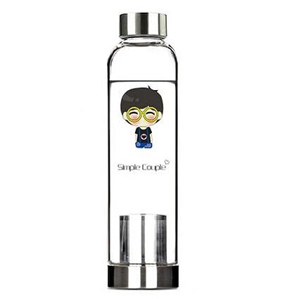 550 ML de alta calidad port¨¢til Agua Botella de vidrio de contenedores de