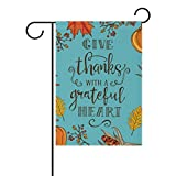 U LIFE Vintage Thanksgiving Day Autumn Fall Pumpkin Garden Yard Flag Banner for Outside House Flower Pot Double Side Print 40 x 28 or 12 x 18 Inch