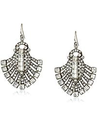 Swarovski Crystal Deco Fan Drop Earrings for Bridal Wedding Anniversary