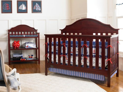 Serta Hanover Fixed-Side Convertible Crib, Classic Cherry (Discontinued by Manufacturer)