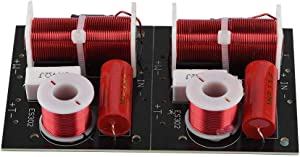 Zerone 2Pcs Speaker Frequency Divider Board 2 Way Treble/Bass 2 Unit 2 Unit Hi-Fi Audio Crossover Filter Frequency Distributor DIY Module