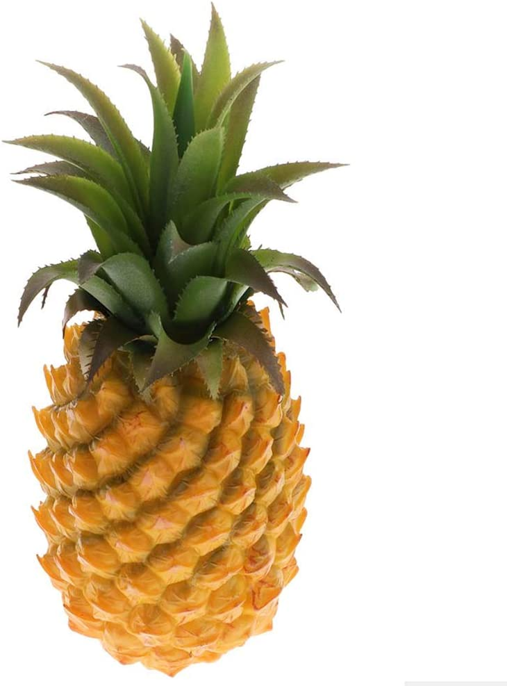 """Yarr Store 12"""" Large Artificial Pineapple Fruit Ornament, Fake Pineapple Display High Simulation Dummy Fruits Vegetables Studio Photo Prop for House Party Decor"""
