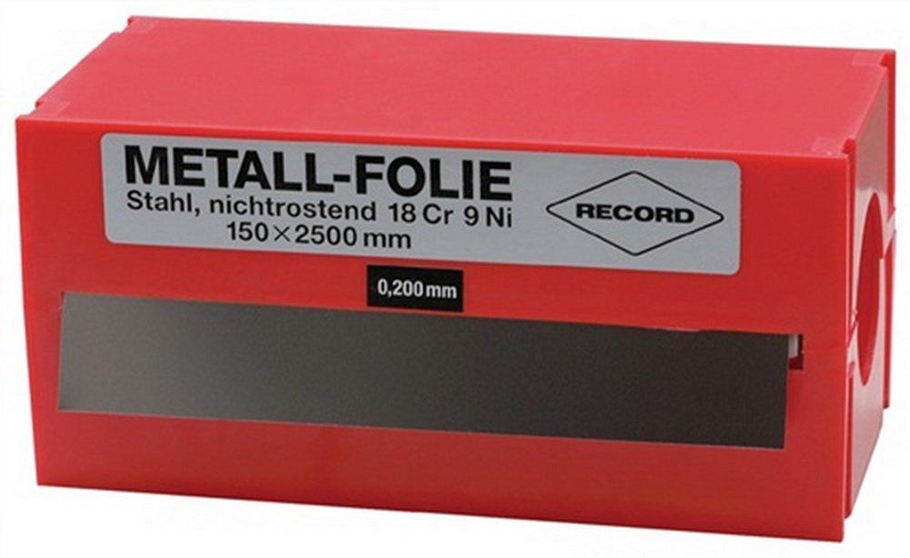 Metallfolie D.0, 250mm VA 1.4301 L.2500mm B.150mm Industrial Quality Supplies 858848