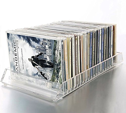 Decor Hut CD/DVD Acrylic Organizer Holds 20 Cd or dvds Easy Flip Tray by Decor Hut