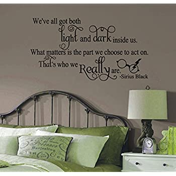 Sirius Black Harry Potter Inspired Weu0027ve All Got Light and Dark Quote Vinyl Wall & Amazon.com: Sirius Black Harry Potter Inspired Weu0027ve All Got Light ...