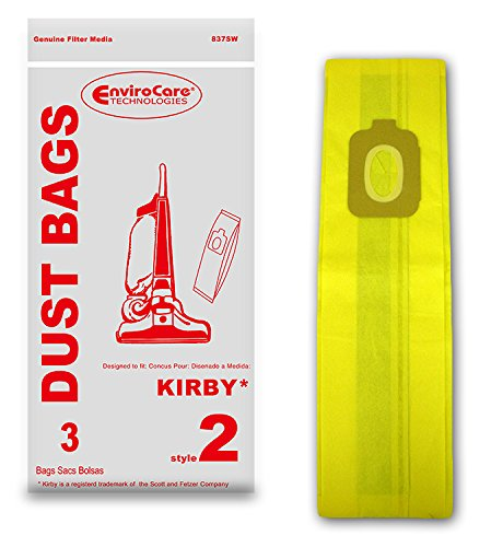 EnviroCare Replacement Vacuum Bags for Kirby Style 2 Uprights 3 ()