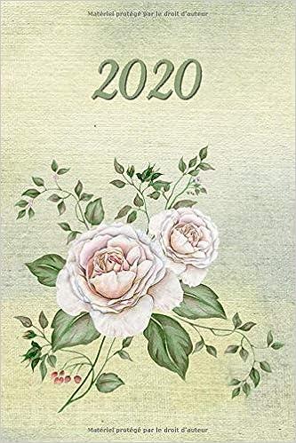 2020: Fleurs Roses - Agenda - Planificateur Hebdomadaire et ...