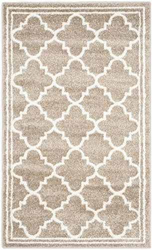 Safavieh Amherst Collection AMT422S Wheat and Beige Indoor/ Outdoor Area Rug (4' x 6')