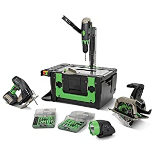 GOWE 18v 2.6Ah Li-ion Powered POWER8workshop Lithium Cordless Power 8 Workshop Cordless Combo Kit