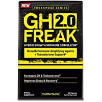 PHARMAFREAK GH FREAK 2.0 - Hybrid Growth Sleep Supplement - 60 Capsules - GH & Testosterone Booster - Reduce Stress - Improve Sleep Quality - L-Theanine - 5-HTP - Melatonin - Fenugreek & Tribulus