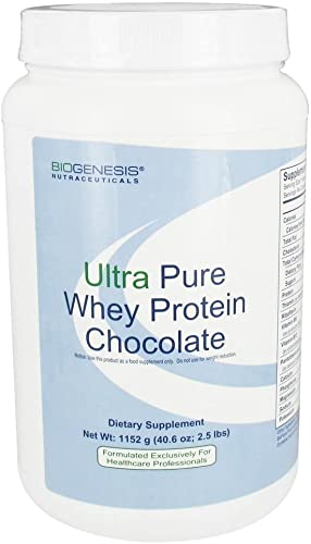 Biogenesis – Ultra Pure Whey Protein – Chocolate, 2 lb 8.6 oz 1152 g