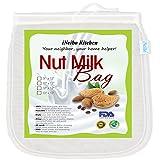 iNeibo Kitchen Nussmilchbeutel für vegana / Passiertuch waschbar / Durchseih Beutel/ Mandelmilch tuch zum auspressen von Obst, Gemüse, yogourt, marmelade, kaffee und vielmehr(1stück/10'x12')