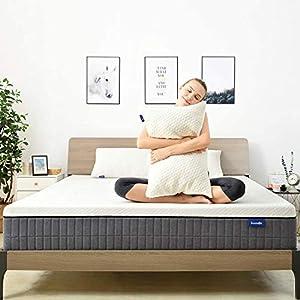 Queen Mattress,Sweetnight 12 Inch Queen Size Mattress in Box,Pillow Top Gel Memory Foam Mattress for Motion Isolation…