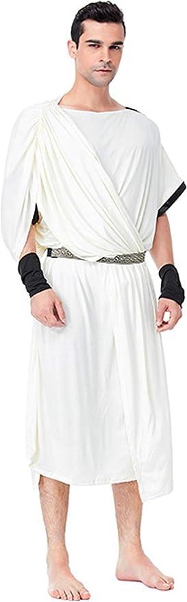 Disfraz Retro Adulto Traje Blanco Edad Media Pareja Vestido De ...