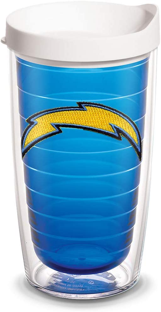 Clear Tervis NFL Buffalo Bills Primary Logo Tumbler with Emblem and Red Lid 24oz