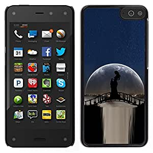 LECELL--Funda protectora / Cubierta / Piel For Amazon Fire Phone -- Moonlight Puente Cascada Mujer Sombra --