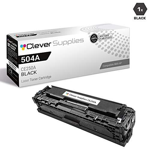 (CS Compatible Toner Cartridge Replacement for HP CP3525n CE250A Black HP 504A Color Laserjet CM3530 CM3530FS CP3525 CP3525N CP3525DN CP3525X CP3520 CM3530FS MFP CM3530MFP)