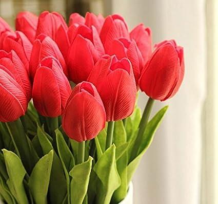 10PCS / plantas flores artificiales de seda de la alta calidad de la PU de mini