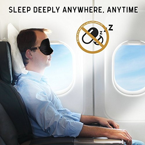 Jersey Slumber 100% Silk Sleep Mask For A Full Night's Sleep   Comfortable & Super Soft Eye Mask With Adjustable Strap   Works With Every Nap Position   Ultimate Sleeping Aid / Blindfold, Blocks Light