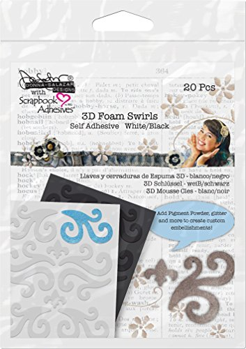 Donna Salazar by 3L Acid Free Adhesive Embellishment 3D Foam Swirls Scrapbook Embellishments Free