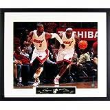 "LeBron James & Dwyane Wade ""Fastbreak"" 16x20 Photograph (SGA Signature Series) Framed"