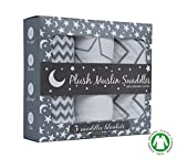 Premium Organic Cotton Baby Swaddle Blankets - Large Unisex Muslin Swaddle Blankets 47 x 47 inch, Ulta Soft Gift Set for Boys and Girls, Amazing Baby Shower Gift