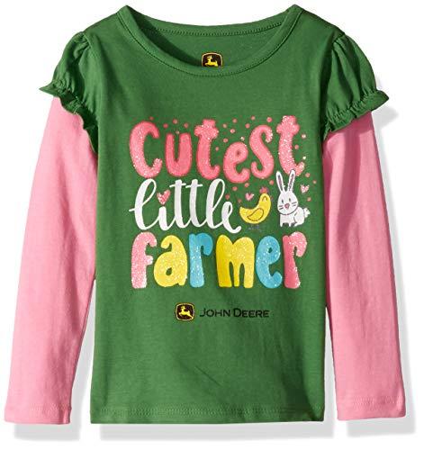 - John Deere Girls' Toddler 2 for TEE, Green, 4T