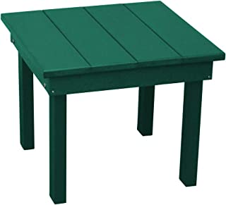 product image for Outdoor Hampton End Table - Turf Green Poly Lumber - Recycled Plastic