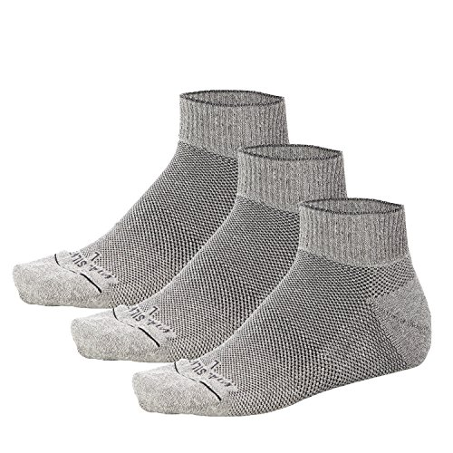 Vital Salveo- Soft Non Binding Seamless Circulation Diabetic Socks- Ankle Short (Large-3 Pairs) by Vital Silver