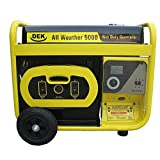 5000 Watt Portable Generator - Dek G5000BM17 Beast 5000, 6600 Surge Watt All Weather Generator-G5000BM17, Yellow