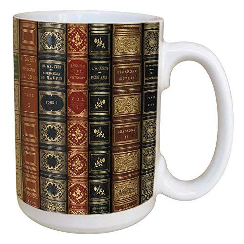 Books Coffee Mug - Large 15 oz Deluxe Double-Sided Mug ()