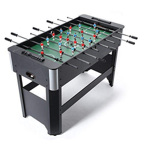 Pinty 48''/50'' Foosball Table Competition Sized Soccer Table Game & 72''/84'' Air Hockey Table for Kids & Adults Use Game (Foot Air Hockey Table Game)