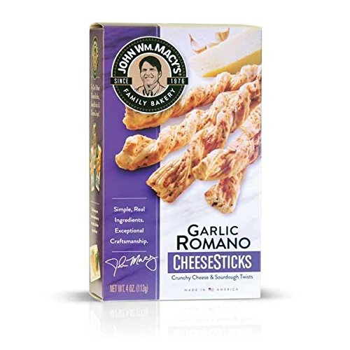 Garlic Romano CheeseSticks 4-oz by John Wm. Macys