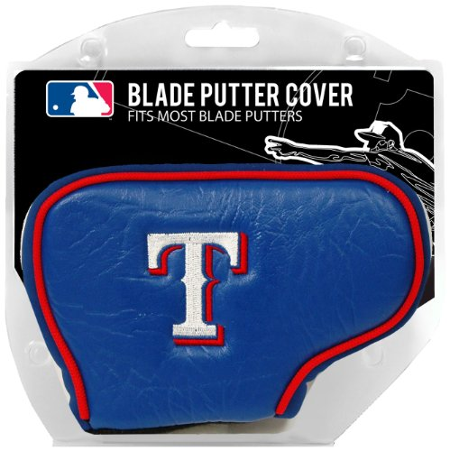 Team Golf MLB Texas Rangers Golf Club Blade Putter Headcover, Fits Most Blade Putters, Scotty Cameron, Taylormade, Odyssey, Titleist, Ping, Callaway ()