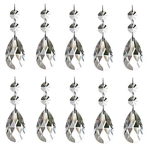 Aiskaer 15 Pieces Teardrop Chandelier Crystal(Angel Tears Series)