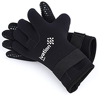 Wetsuit Gloves - 3mm Diving Gloves Premium Neoprene Five Finger Diving Gloves for High-Performance Watersports. Great for Water, Beach, Swimming, Diving, Snorkeling