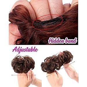 BurBurly Beautiful Bun – Easy-to-Wear Stylish Synthetic Hair Circle Women & Girls Elastics Hair Circle Adjustable and…