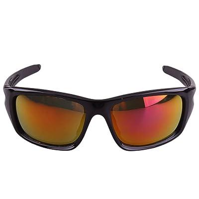 LQABW Polariser Pêche Conduite Lunettes De Soleil Plein Air Sports HD  Anti-éblouissement Unisexe Miroir Protection Yeux,Black b0f5c529d7cf