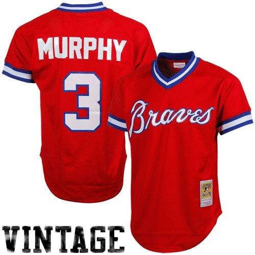 Mitchell & Ness Dale Murphy Atlanta Braves MLB 1980 Authentic Mesh BP Jersey (Small)