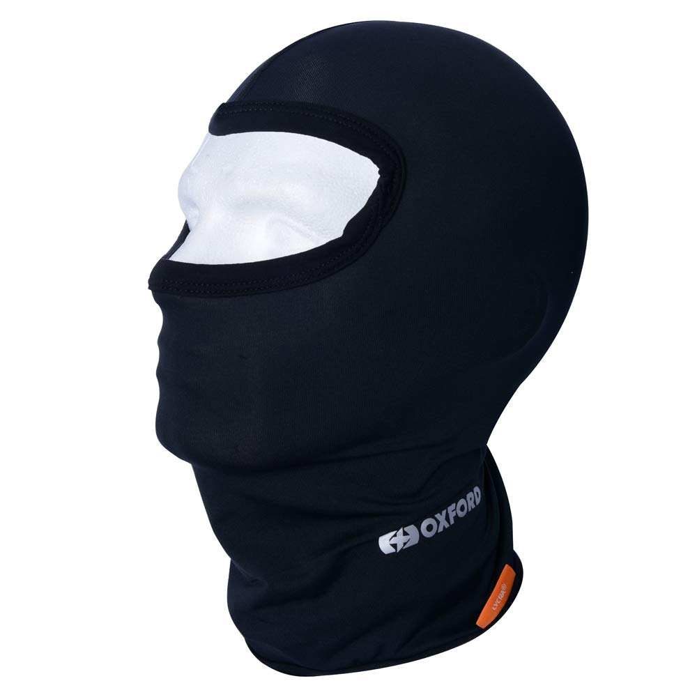 Oxford Motorcycle Lycra Black Balaclava CA005 Oxford Products